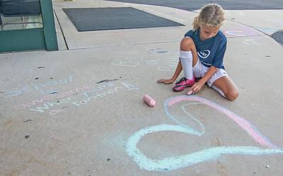 Chalk Walk at Nellie F. Bennett Elementary School