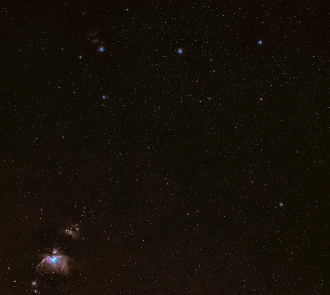 Orions Belt and Nebula