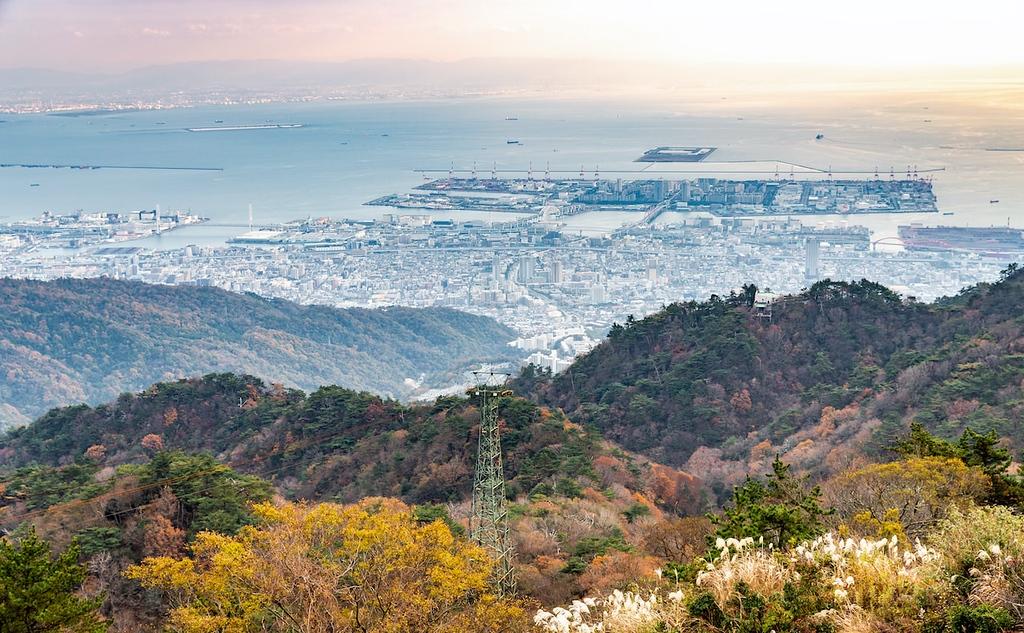 Port of Kobe from Rokko mountain