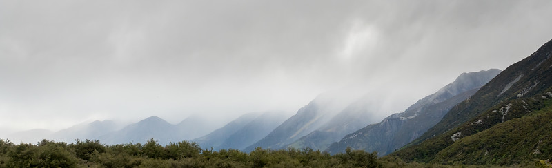 Storm Moving into Hooker Valley, Mt Cook NP