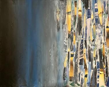"""Yellow Midnight"" (acrylic) by Amanda June"