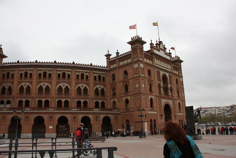 The bullfight ring in Madrid