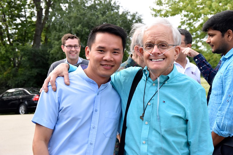 Tomorrow, Huan will make his profession. He is here with former formation director, Fr. Bob