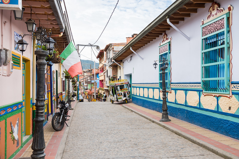 Beautiful coloured streets of Guatape