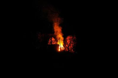 Brand mindre byggnad Älgabäck