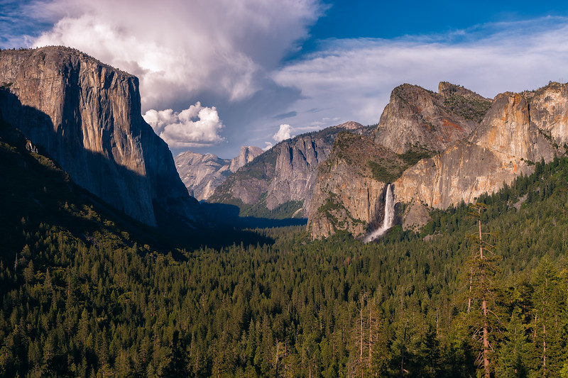 Tunnel View, Yosemite National Park. California, USA.