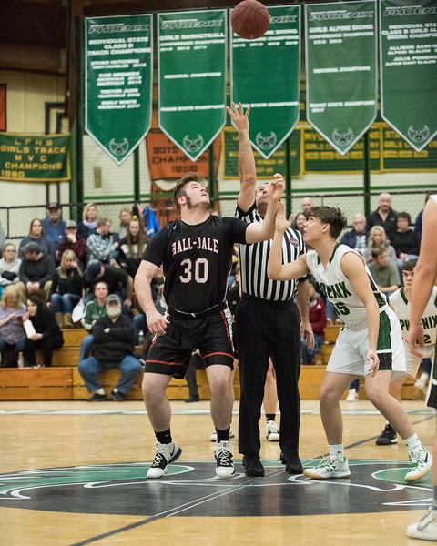2020 Varsity Boys Basketball:  Hall-Dale vs Spruce Mt