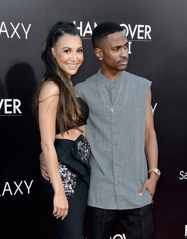 """. Actress Naya Rivera and rapper Big Sean attend the premiere of Warner Bros. Pictures\' \""""Hangover Part 3\"""" at Westwood Village Theater on May 20, 2013 in Westwood, California.  (Photo by Frazer Harrison/Getty Images)"""