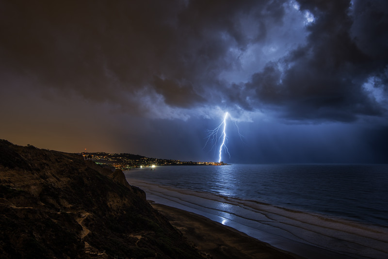 Lightning Over La Jolla
