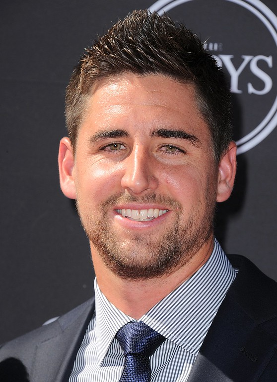 . Baltimore Ravens\' Dennis Pitta arrives at the ESPY Awards on Wednesday, July 17, 2013, at Nokia Theater in Los Angeles. (Photo by Jordan Strauss/Invision/AP)