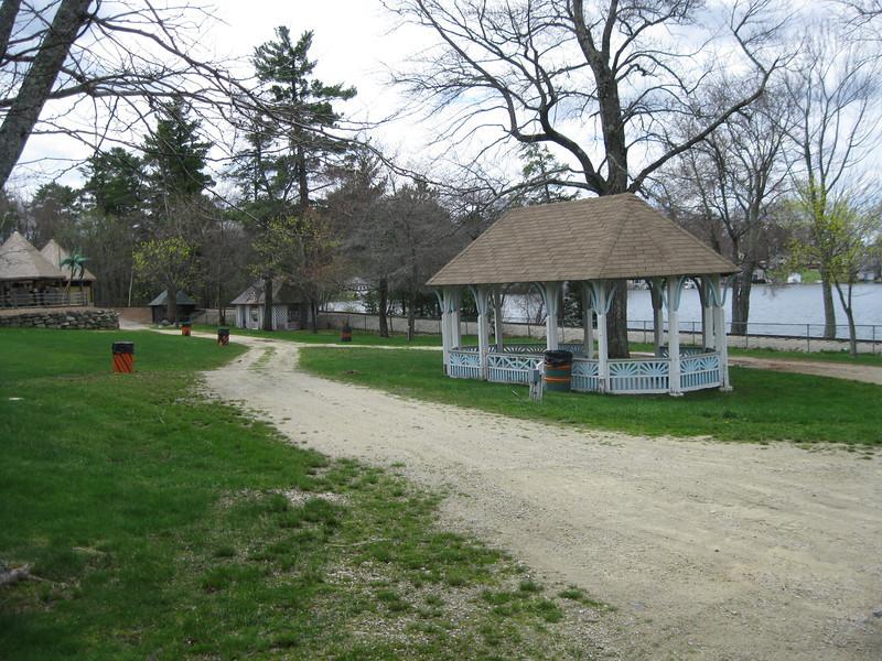 Lakeside pavilions.