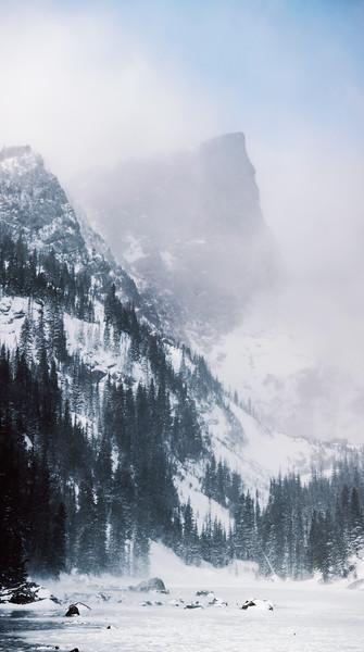 Hallet Peak From Dream Lake - January