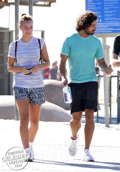 EXC: Joe Wicks & Page 3 Girlfriend Rosie Jones Together In LA!