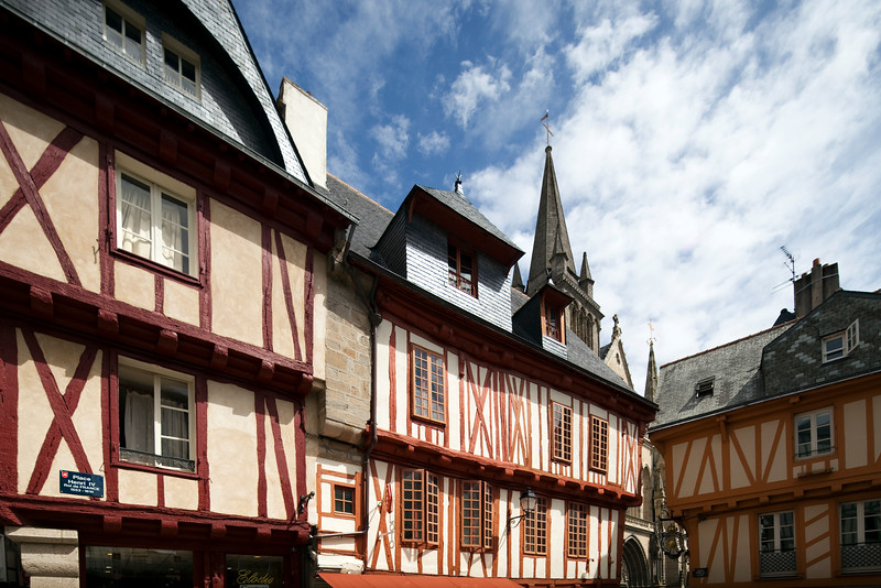 Henry IV Square, Vannes, department of Morbihan, region of Brittany, France