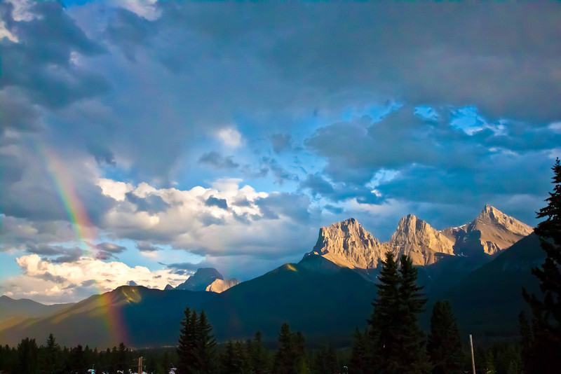 """Three Sisters Rainbow"" - Canmore, Alberta"