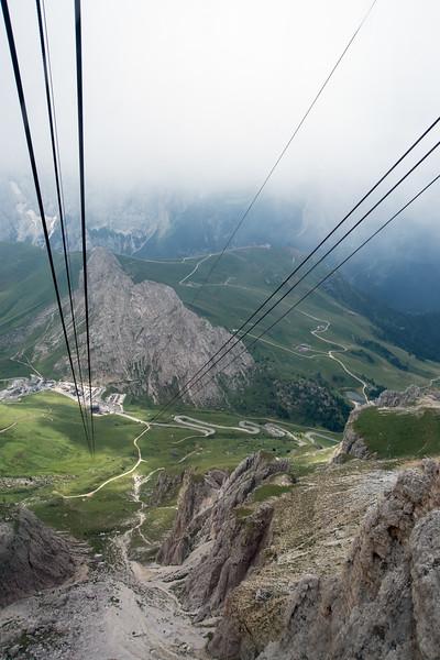 Pordoi Pass - Canazei, Trento, Italy - August 12, 2013