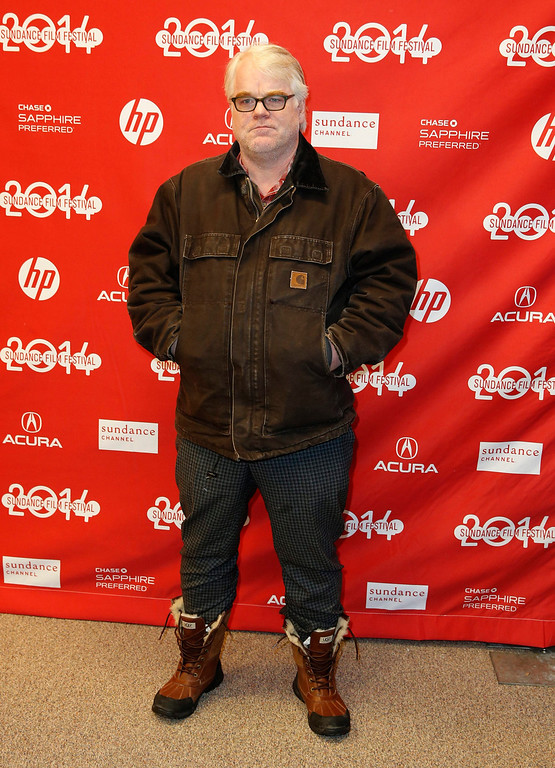 """. US actor Philip Seymour Hoffman arrives for the premiere of \""""God\'s Pocket\"""" during the 2014 Sundance Film Festival in Park City, Utah, USA, 17 January 2014. The festival runs from 16 to 26 January.  EPA/George Frey"""