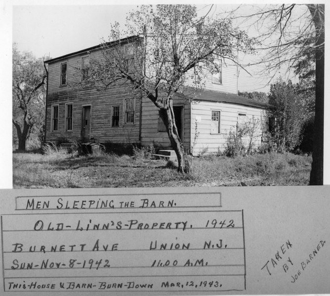 Harry Linn's Property. This house stood on Burnet Ave. right about where Linn Ave. is located. This photo was taken by Joe Barned who knew which barns got burned down and when.