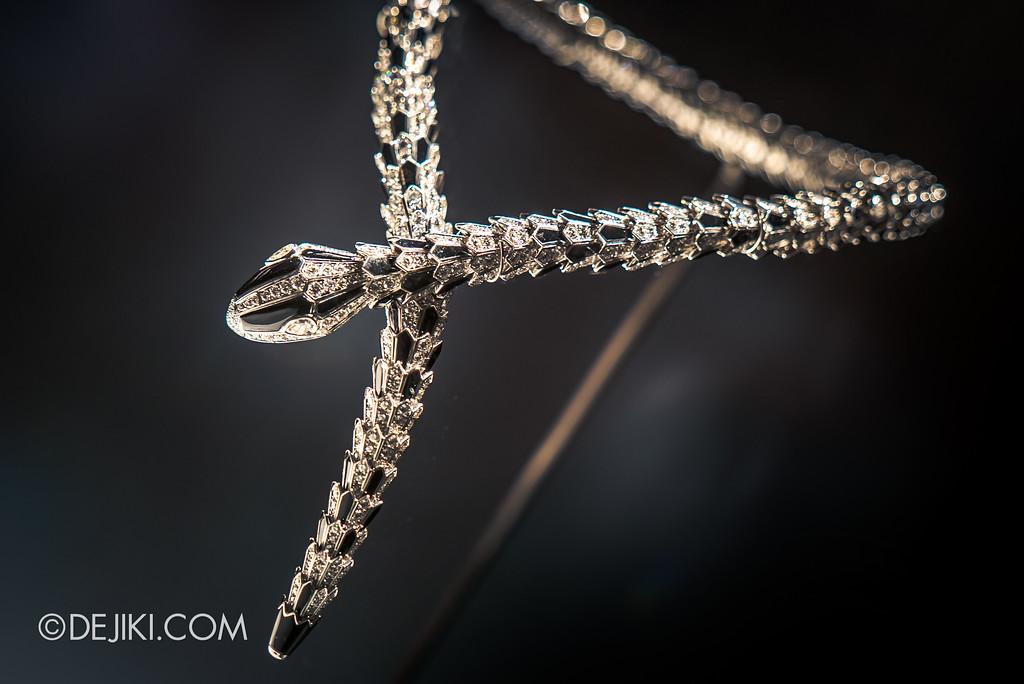 Bulgari SERPENTIform exhibition at ArtScience Museum - Bulgari High Jewellery showcase, Serpenti necklace