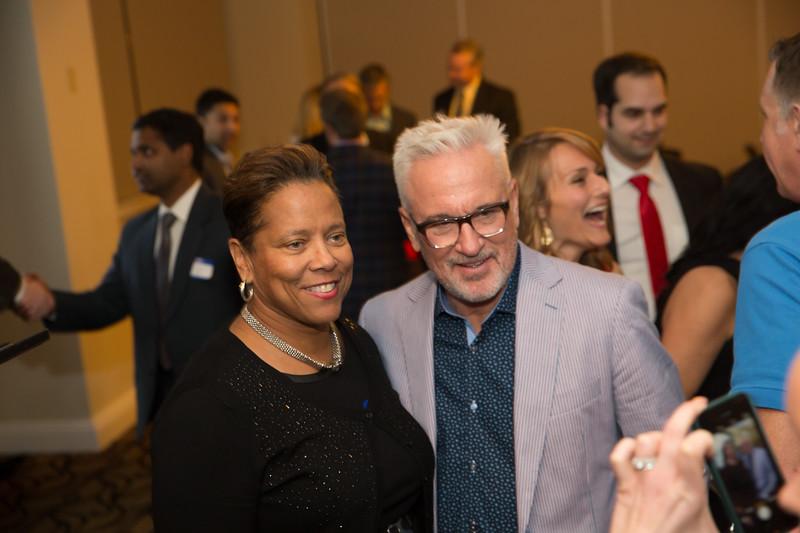 Dr. Agnes Green and Joe Maddon