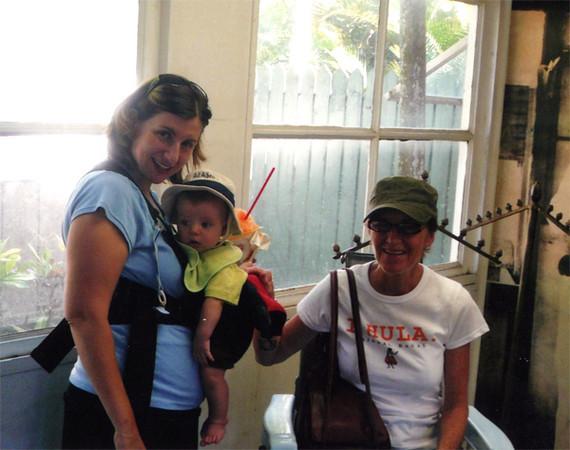 Mom, Amy and Elliot in Kauai