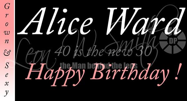 Alice Ward 40th B-Day