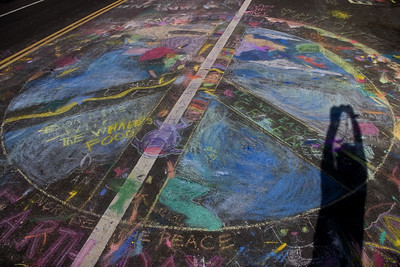 Valley View Elementary School, Richmond CA CHALK4PEACE 2007