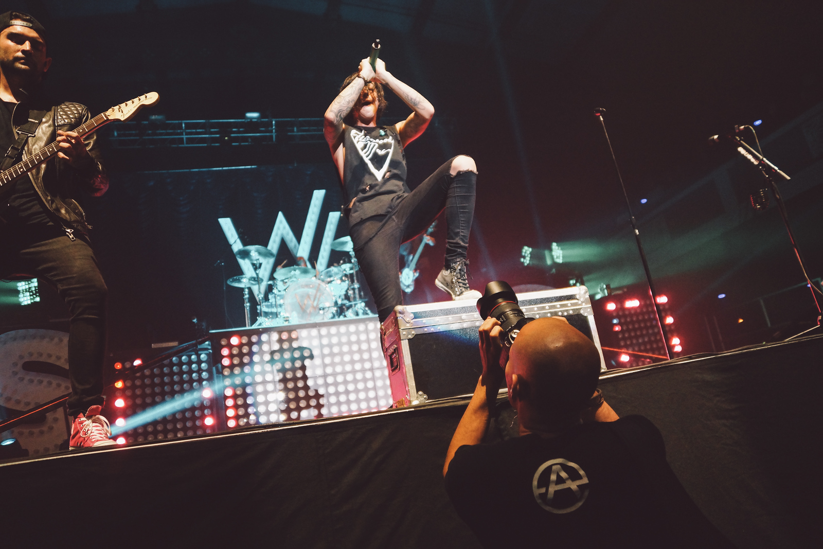 Photographing Sleeping With Sirens - Photo by Mike Danenberg