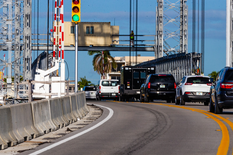 President Donald J. Trump's motorcade crosses the Intracoastal Waterway heading toward Trump International Golf Club on Sunday, March 31, 2019. [JOSEPH FORZANO/palmbeachpost.com]