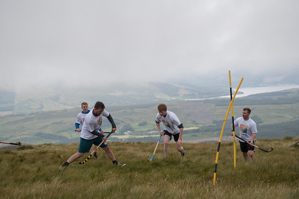 The highest shinty match @ Nevis range