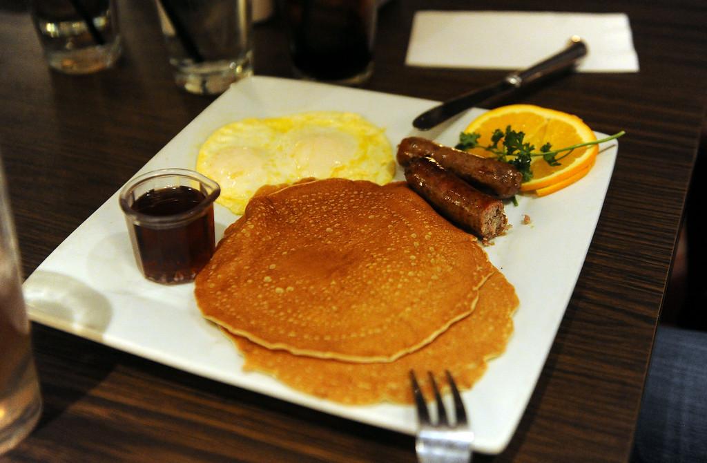 . Gertie Meza (not pictured) of Pasadena favorite food pancakes at Hamburger Hamlet on Lake Ave. is changing to Dupar\'s Restaurant & Bakery in Pasadena, Calif., on Thursday, Jan.2, 2014.   (Keith Birmingham Pasadena Star-News)
