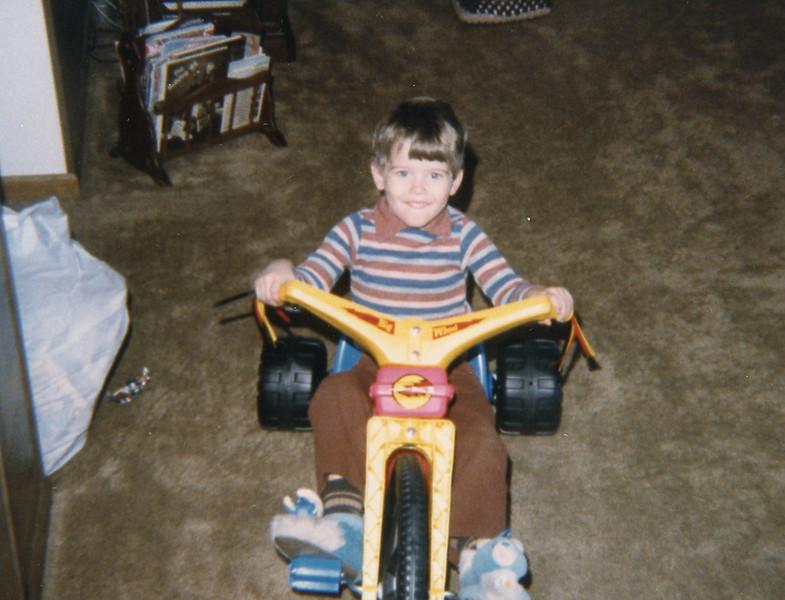 On big wheel, April 1986