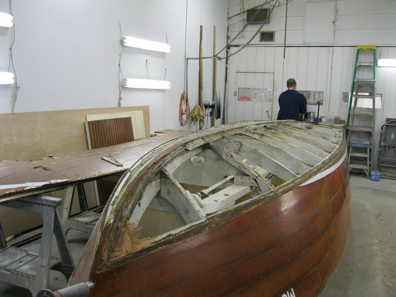 Starboard front view of bottom removed.