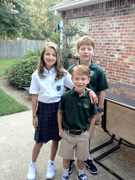 Back to school 2013. 6th, 6th and 2nd grade.