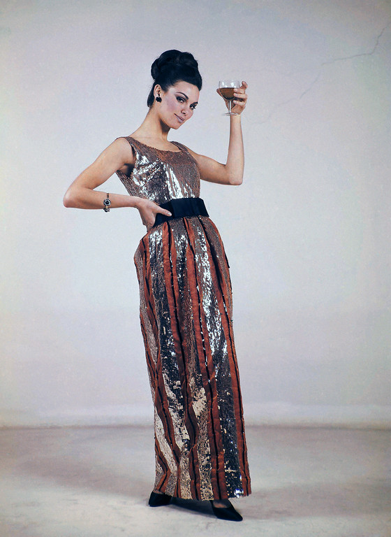 . Long evening dress by Irene Galitzine of Rome in 1968. (AP Photo/Mario Torrisi)