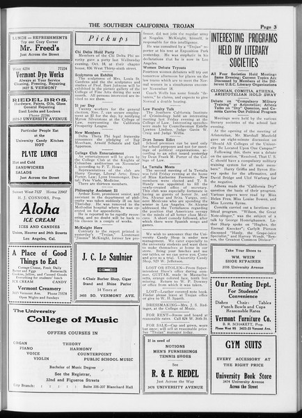 The Southern California Trojan, Vol. 8, No. 22, October 25, 1916