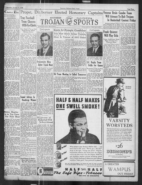 Daily Trojan, Vol. 27, No. 65, January 15, 1936
