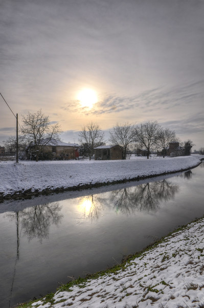 Naviglio Canal - Albareto, Modena, Italy - Januray 28, 2010