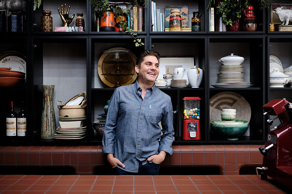 Jeroen Meus in de nieuwe keuken van Dagelijkse Kost