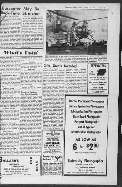 Summer News, Vol. 6, No. 6, July 13, 1951