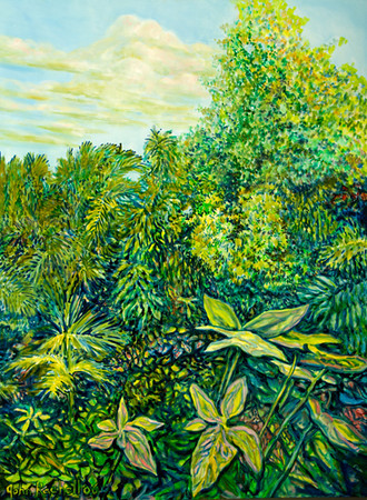 "©John Rachell  Title: The Garden, November 29, 2006 Image Size: 30"" w by 40"" d Dated: 2006 Medium and Support: Oil Paint on Canvas Signed: LL Signature"