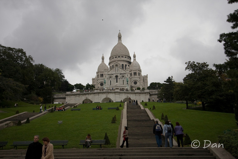 Sacre Coeur and the steps that lead up