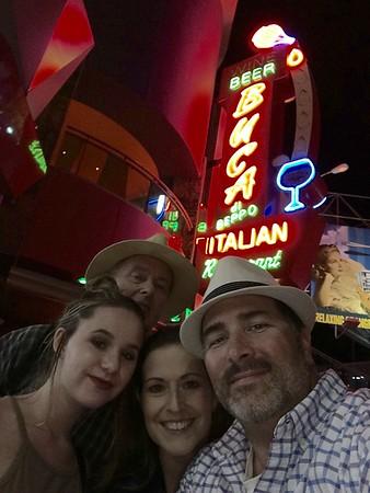2016 0801-03 Don and Sierra Visit - Universal, Buca de Beppo, Santa Monica