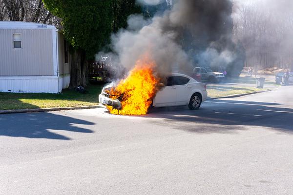 49 - Lenape Way & N Manor Rd - Car Fire