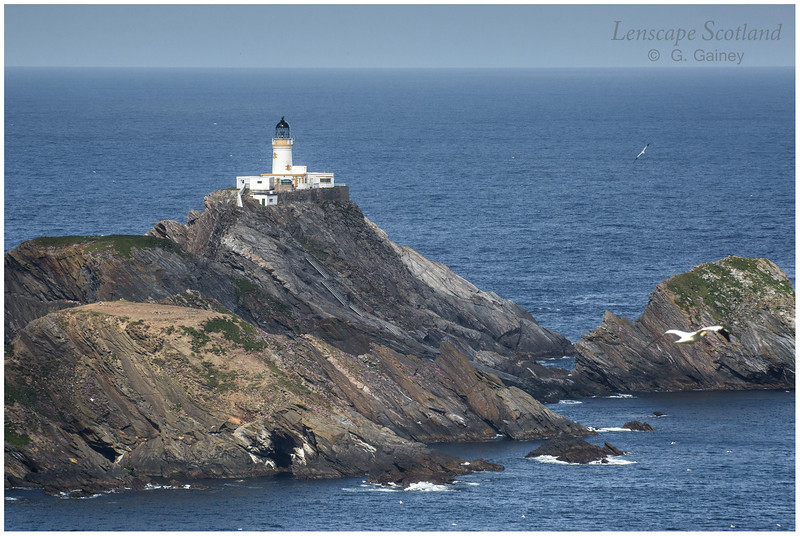 Muckle Flugga lighthouse, northern tip of the British Isles (Unst)