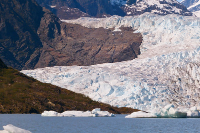 The West Side of the Mendenhall Glacier  May 2013, Cynthia Meyer, Juneau, Alaska