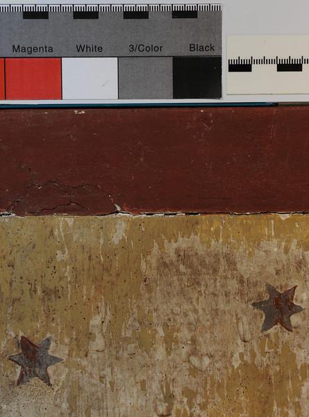 Vorzustand: Anna Altar, Predella, Rückseite, auffallende Retuschen/Übermalungen (gelb) AAF_0999_27-10-2011