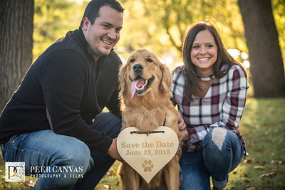 Brianna and Michael Engaged Beckmann Mill Fall Outdoor