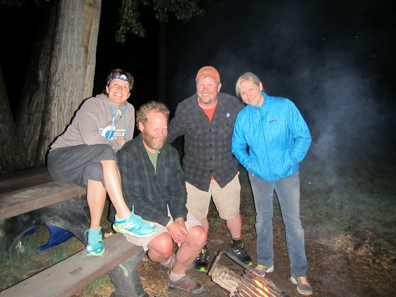 First Night Camping at Deerlodge Park before getting on the Yampa