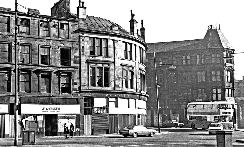 Garscube Rd at Possil Rd.  March 1974